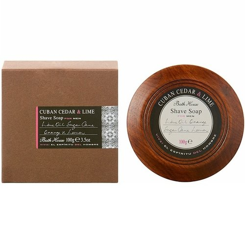 Bath House Scheerzeep Cuban Cedar & Lime 100g