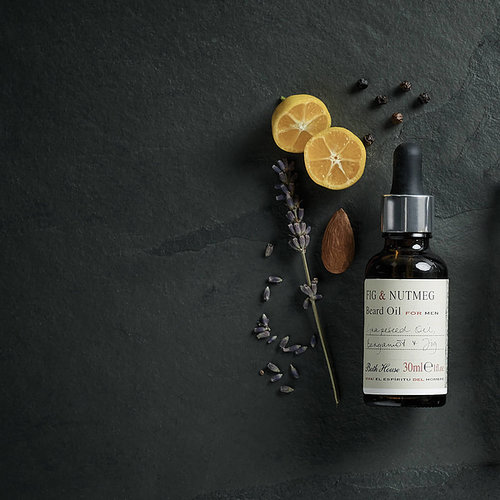Bath House Baardolie Spanish Fig & Nutmeg 30 ml