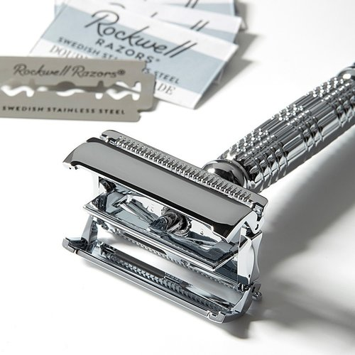 Rockwell Razors R1 Double Edge Safety Razor White Chrome