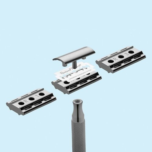 Rockwell Razors 6C Double Edge Safety Razor White Chrome