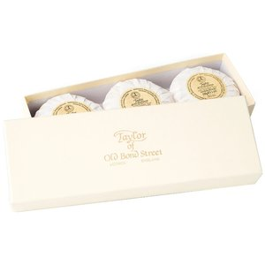 Taylor of Old Bond Street Handzeep Sandalwood Gift Box 3 x 100g