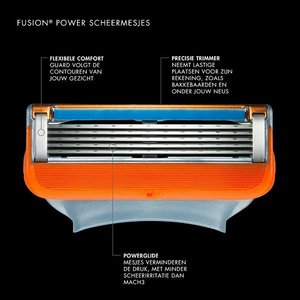 Gillette Fusion Power Scheermesjes 4 stuks