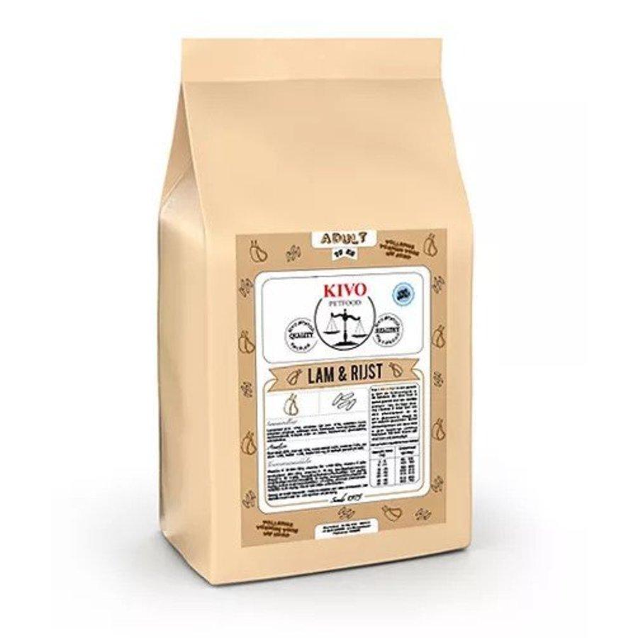 Kivo Lam en rijst geperste brok 15kg-1