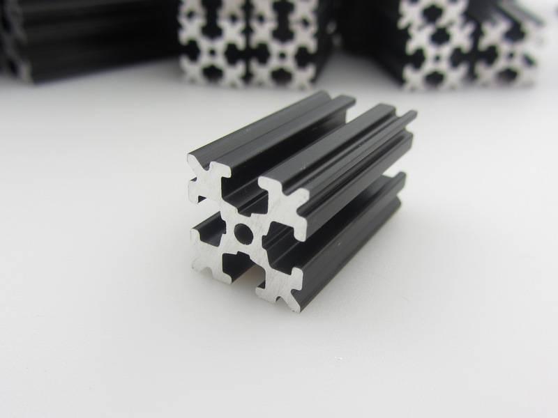 OpenBeam - 15x15mm aluminum profile Black Precut Kit OpenBeam plus XL brackets