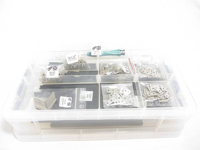 MakerBeam - 10x10mm aluminum profile Clear Premium MakerBeam Starter Kit