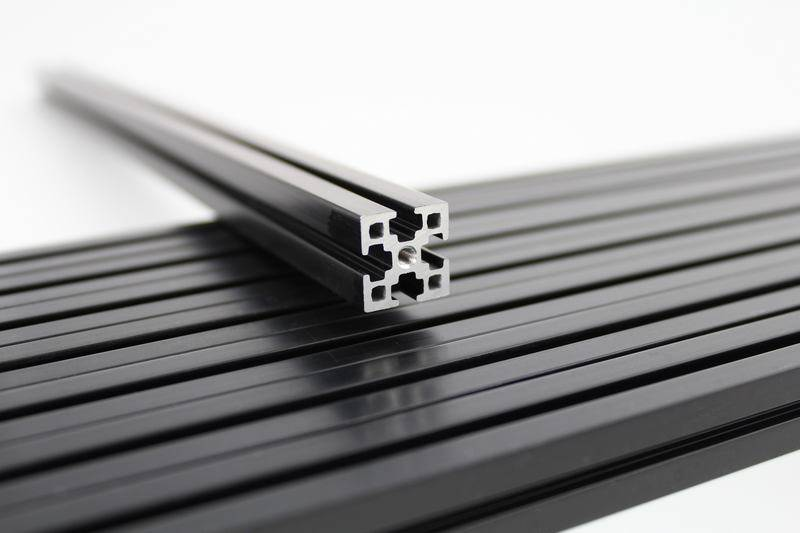 MakerBeamXL - 15x15mm aluminum profile 9 pieces of 360mm black MakerBeamXL for Kossel 3D printer