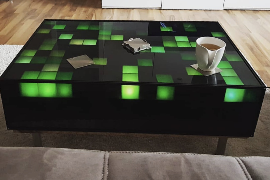 coffee table with LEDs