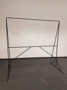 See through acrylic glass whiteboard
