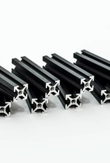 MakerBeam - 10x10mm aluminum profile 8 pieces of 40mm black anodised MakerBeam