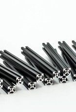 MakerBeam - 10x10mm aluminum profile 16 pieces of 100mm black anodised makerBeam