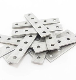 MakerBeam - 10x10mm aluminum profile Straight brackets (12p)