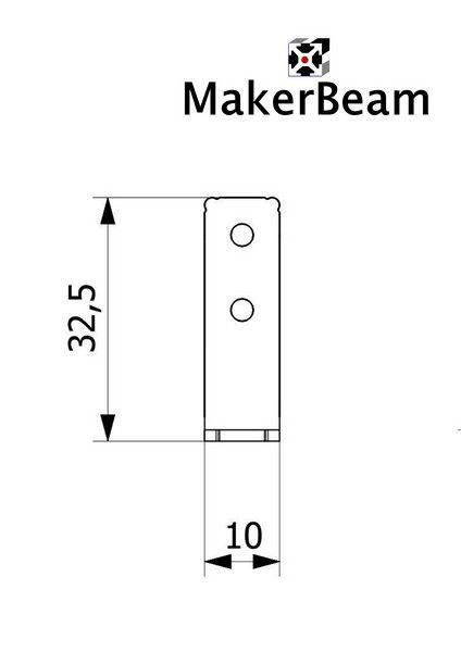 MakerBeam - 10x10mm aluminum profile 12 pieces of MakerBeam Corner brackets (MakerBeamXL and OpenBeam compatible)