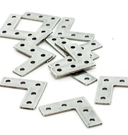 MakerBeam - 10x10mm aluminum profile Right angle brackets (12p)