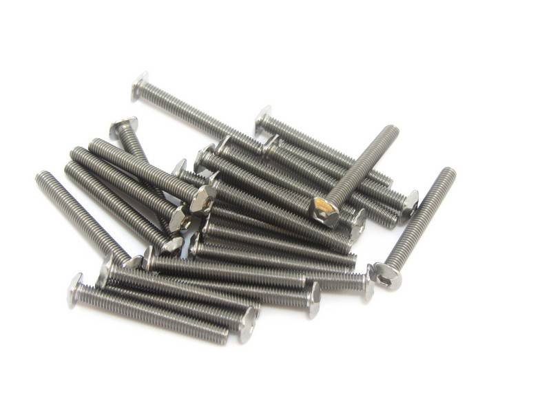 MakerBeam - 10x10mm aluminum profile 25 pieces, M3, 25mm, MakerBeam square headed bolts with hex hole
