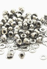 MakerBeam - 10x10mm aluminum profile 50 pieces, M3 cap nuts compatible with both MakerBeam and OpenBeam bolts