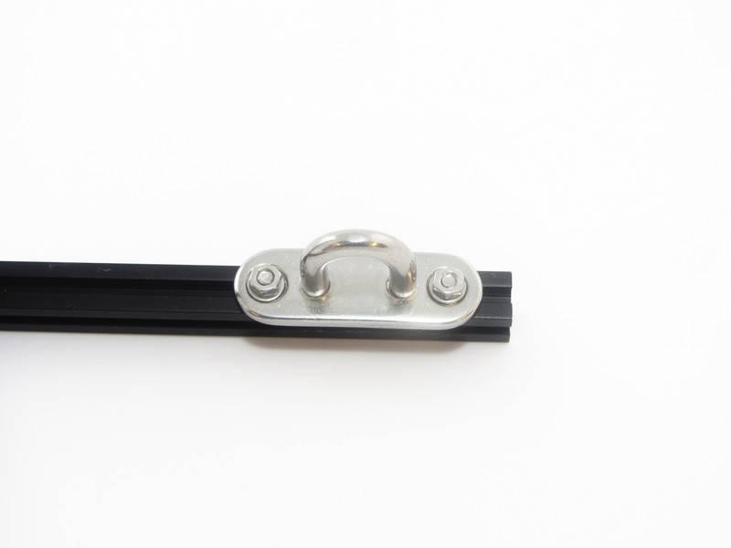 MakerBeam - 10x10mm aluminum profile 1 Eye plate