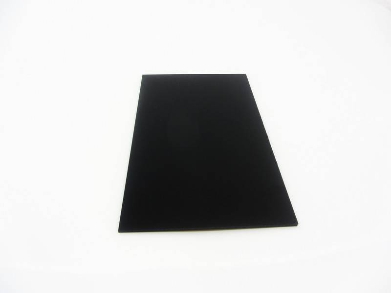 MakerBeam - 10x10mm aluminum profile 1 piece polystyrene sheet, 300mmx200mmx3mm, black