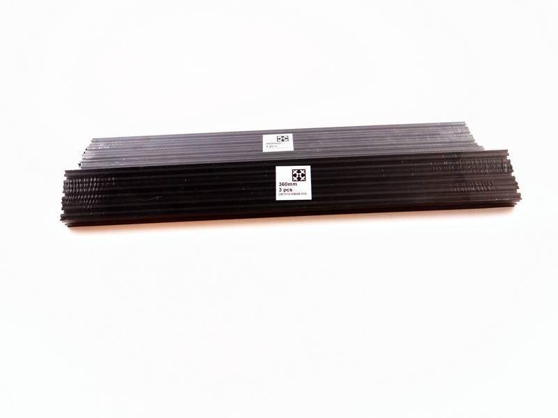 OpenBeam - 15x15mm aluminum profile 9 pieces of 360mm black anodised OpenBeam