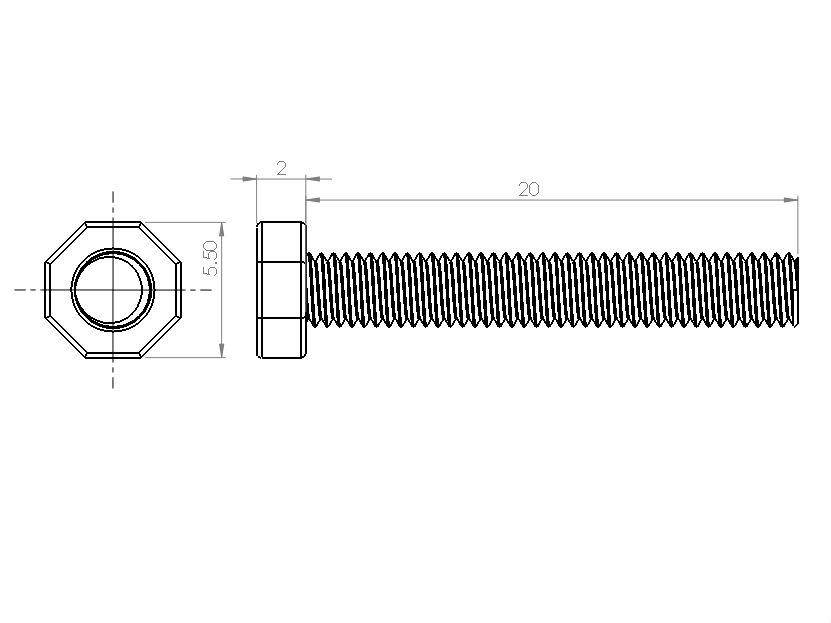 PCB Grip - an electronics assembly system PCBGrip Hex Head Bolt 25mm, 25 pieces, 10020