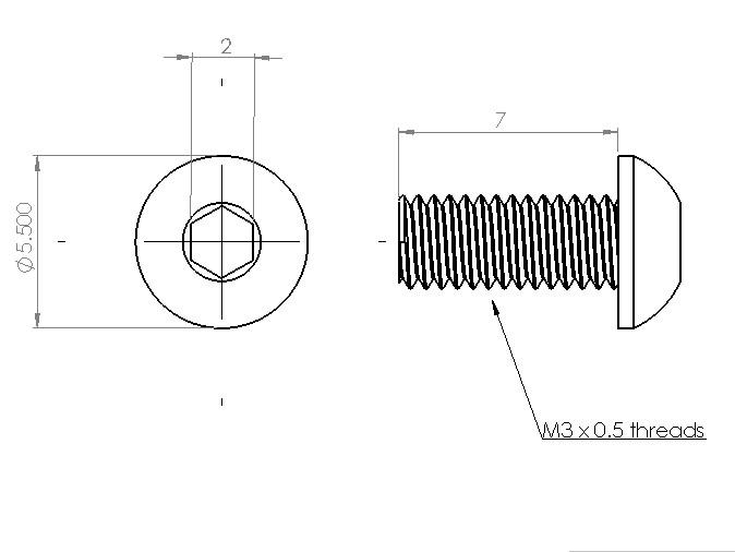 PCB Grip - an electronics assembly system PCBGrip Pan Head Screw 7mm, 25 pieces,10021