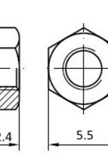 PCBGrip Nut M3, 25 pieces, 10022