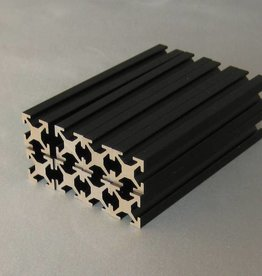 MakerBeam - 10x10mm aluminum profile OLD 100mm (16p) black MakerBeam