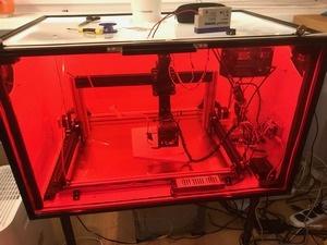 Laser cutter in MakerBeam enclosure
