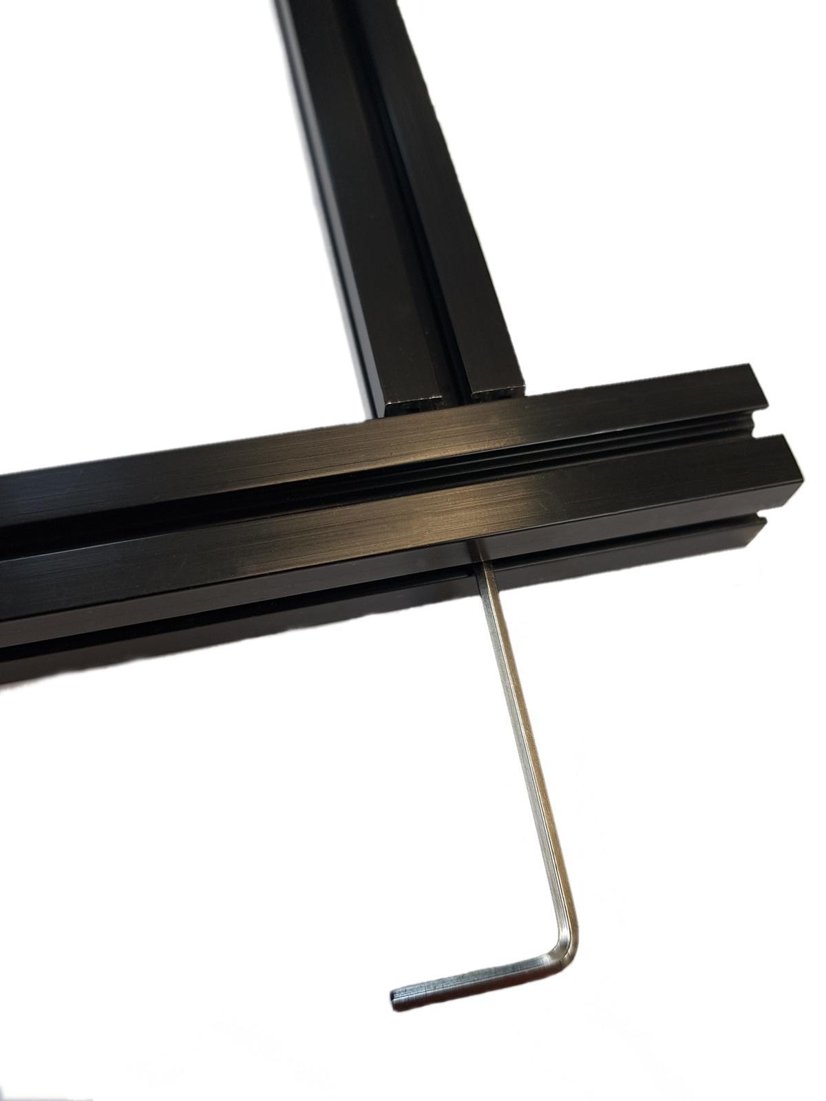 MakerBeamXL - 15x15mm aluminum profile 90 degree blind fastener