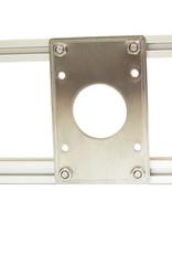MakerBeam - 10x10mm aluminum profile 1 piece NEMA 17 stepper bracket for MakerBeam