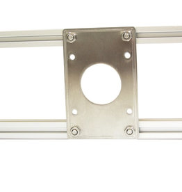 MakerBeam - 10x10mm aluminum profile NEMA 17 stepper bracket (1p) for MakerBeam