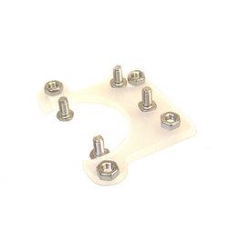 MakerBeam - 10x10mm aluminum profile Stepper bracket flat (1p) for MakerBeam