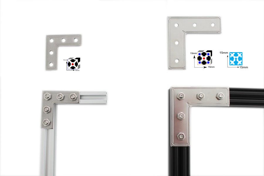 MakerBeamXL - 15x15mm aluminum profile MakerBeam XL right angle bracket (12p)