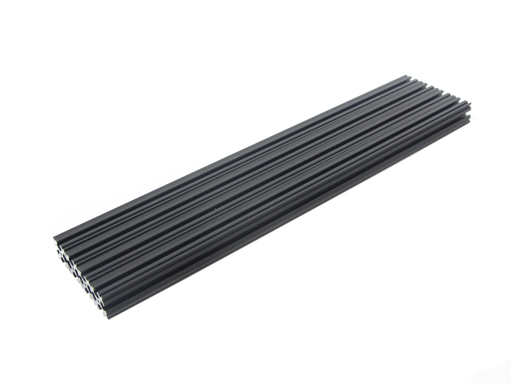 OpenBeam - 15x15mm aluminum profile 4 pieces of 270mm black anodised OpenBeam