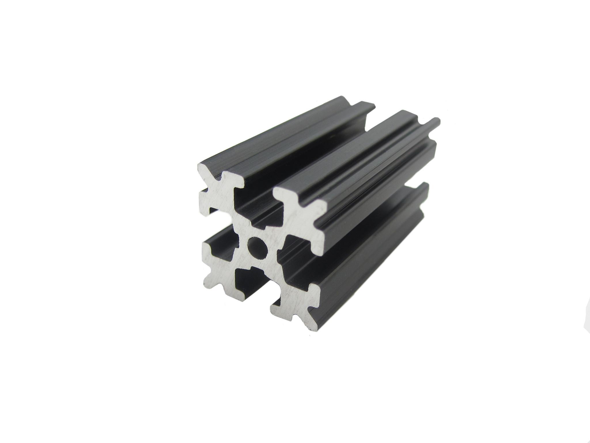 OpenBeam - 15x15mm aluminum profile 4 pieces of 120mm black anodised OpenBeam