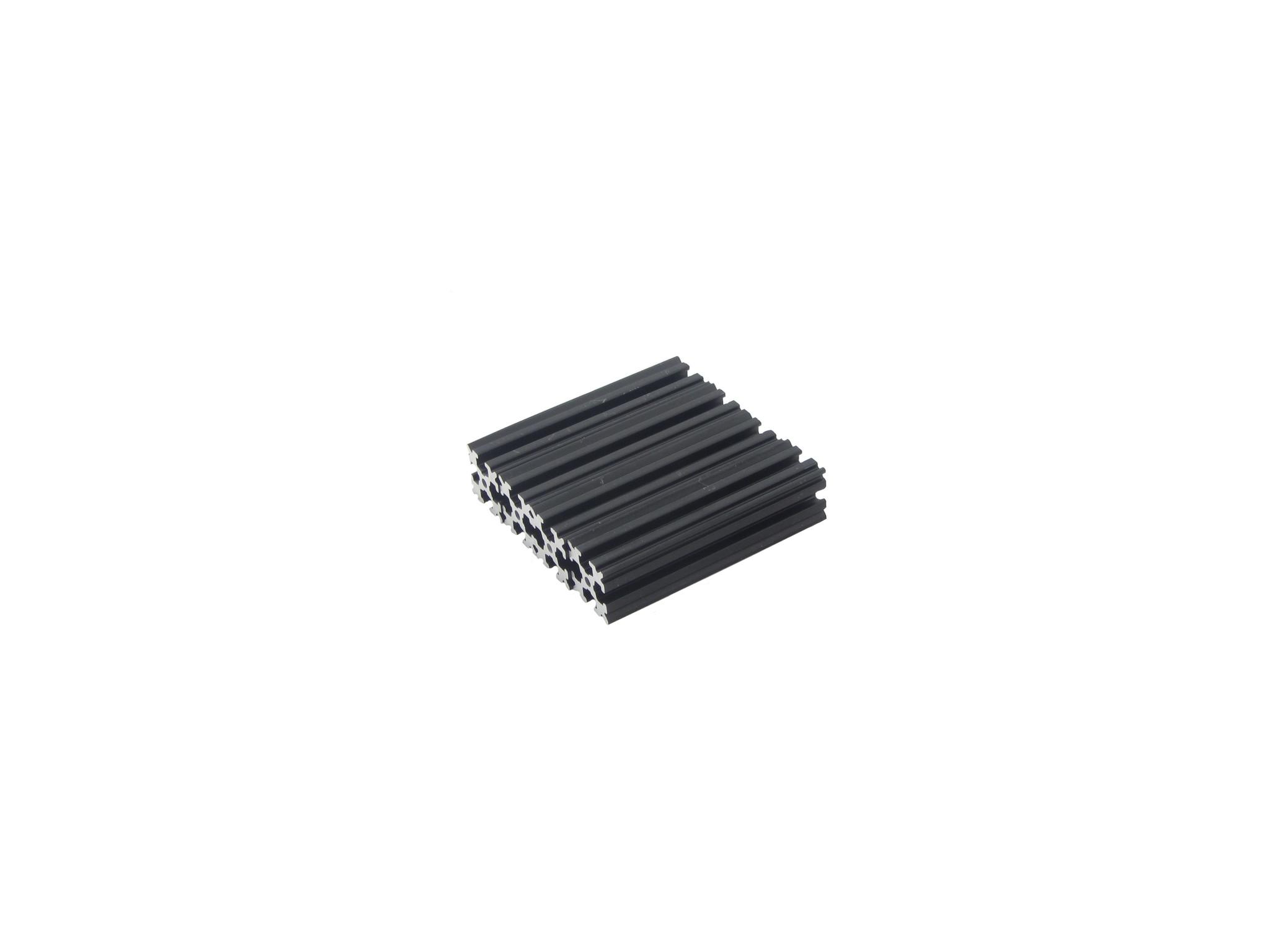 OpenBeam - 15x15mm aluminum profile 4 pieces of 60mm black anodised OpenBeam