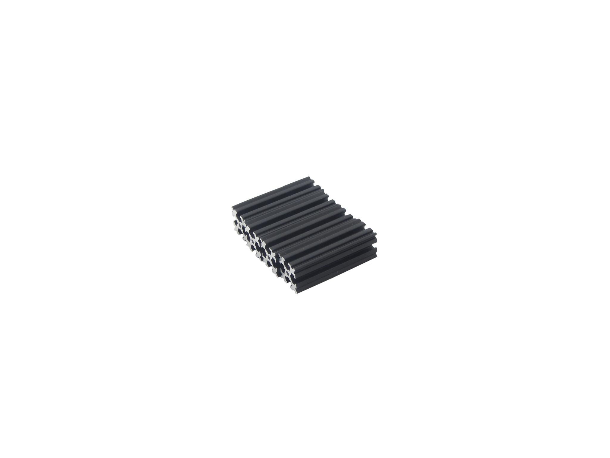 OpenBeam - 15x15mm aluminum profile 4 pieces of 45mm black anodised OpenBeam