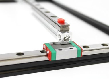 MakerBeamXL - 15x15mm profile - accessories: linear slide rails