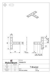 Technical drawings MakerBeam