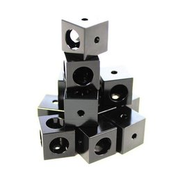 MakerBeamXL - 15x15mm aluminum profile Corner cubes black (12p) - 15mmx15mmx15mm