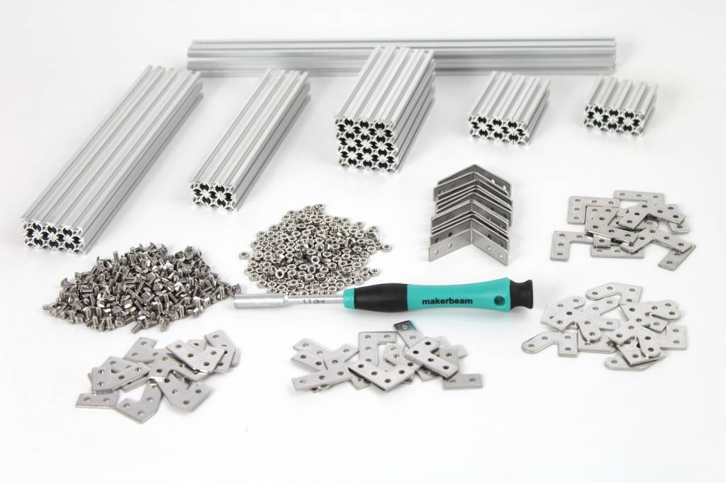 MakerBeam - 10x10mm aluminum profile Clear Starter Kit Regular MakerBeam