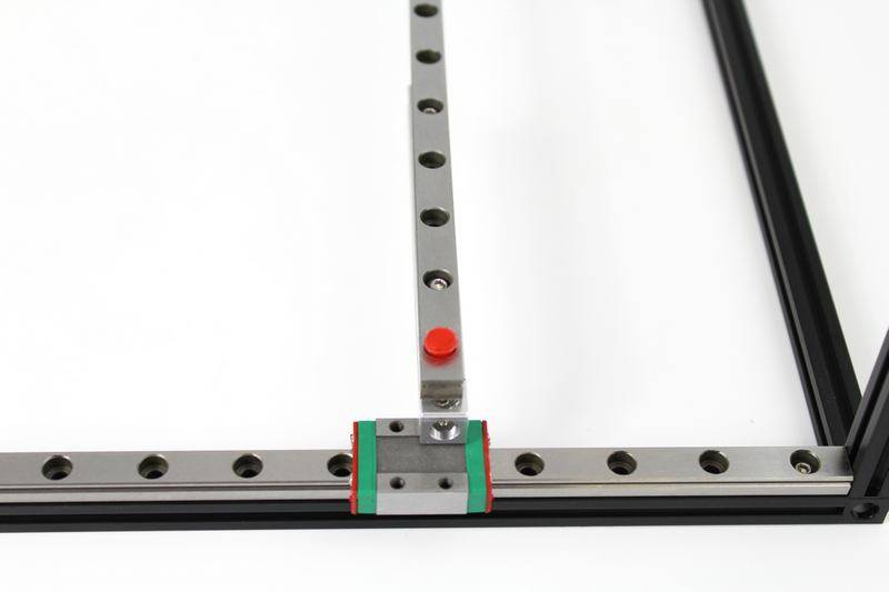 MakerBeam - 10x10mm aluminum profile 1 piece of 600mm linear slide rail and carriage