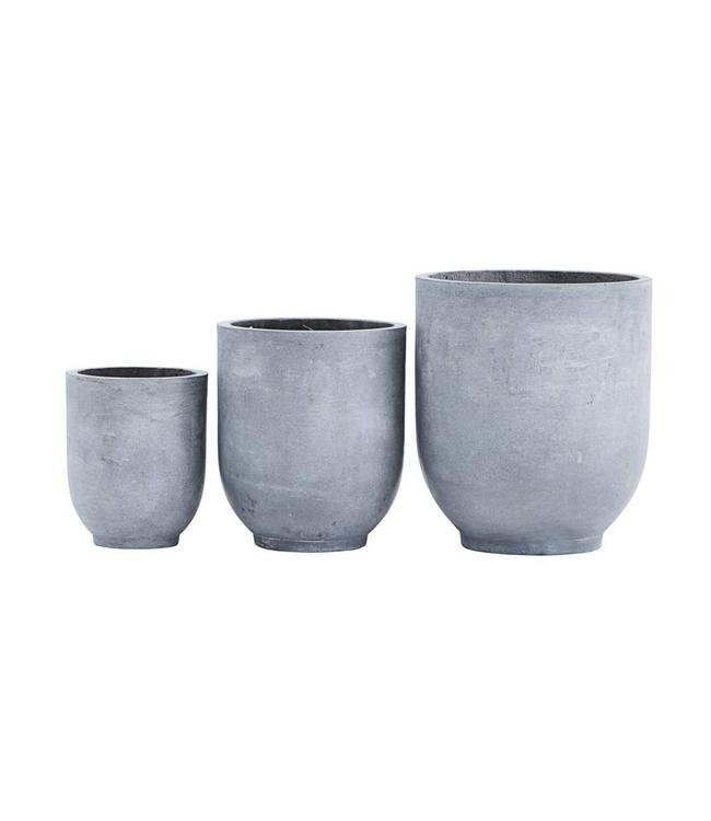 House Doctor Planter Gard Set of 3 pots