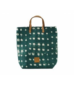 House Doctor Shopping Bag | Dots Green