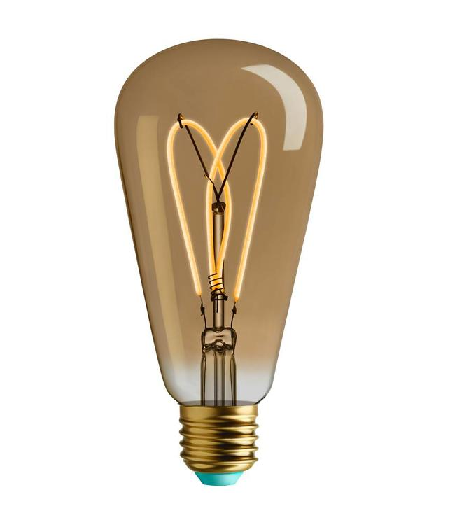 Plumen Watt Nott | Whirly Willis | GOLD LED lamp