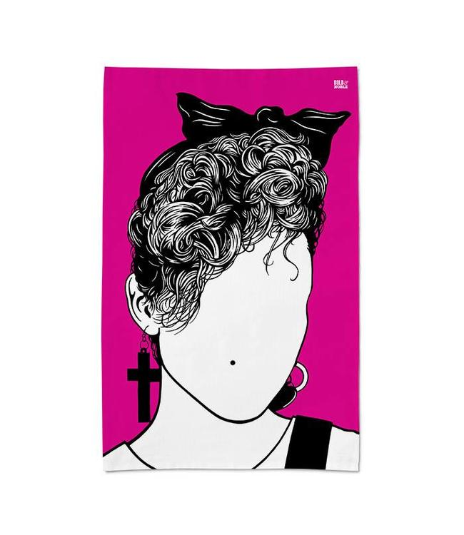 Bold & Noble Pink Icons Tea Towel Madonna