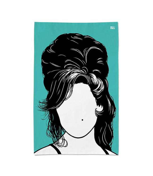 Bold & Noble Groene Theedoek Amy Winehouse