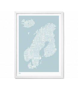 Type Map Nordic Europe | Blue