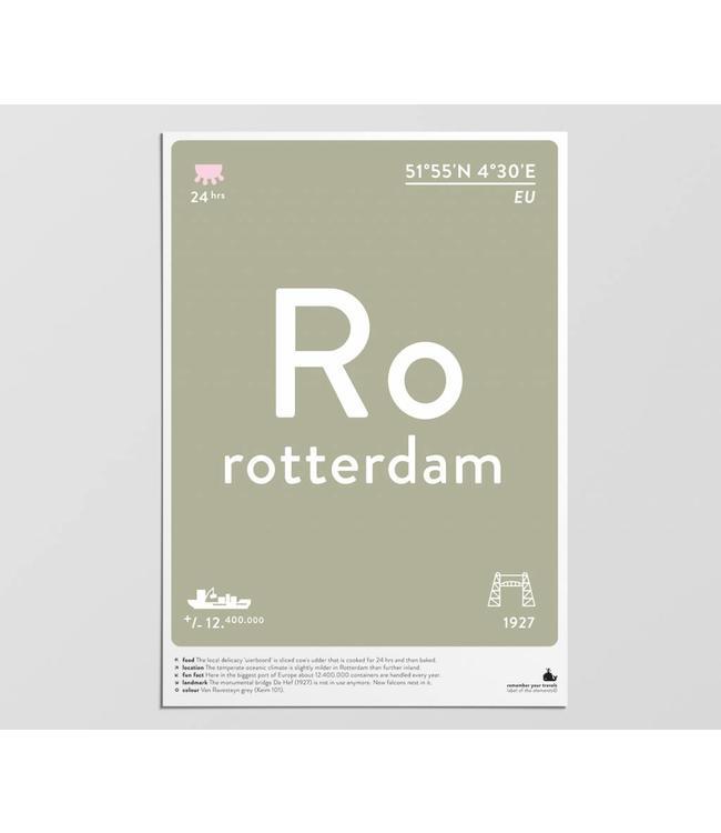 Label of the Elements Label of the Elements Poster Rotterdam A3 formaat