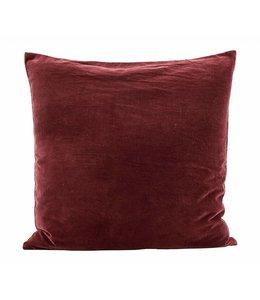 Pillow Case Velv  60x60   Burnt Henna