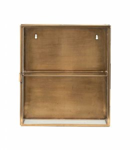 House Doctor Wall Cabinet Glass Brass